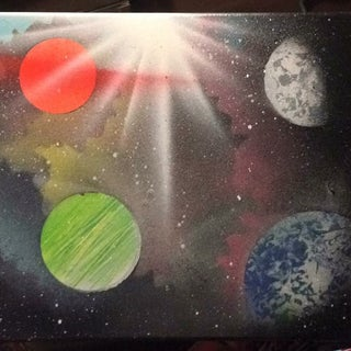How to Paint an Amazing Space Scene