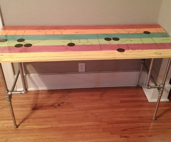 Stained Wood Top With Pipe Dream Legs Desk