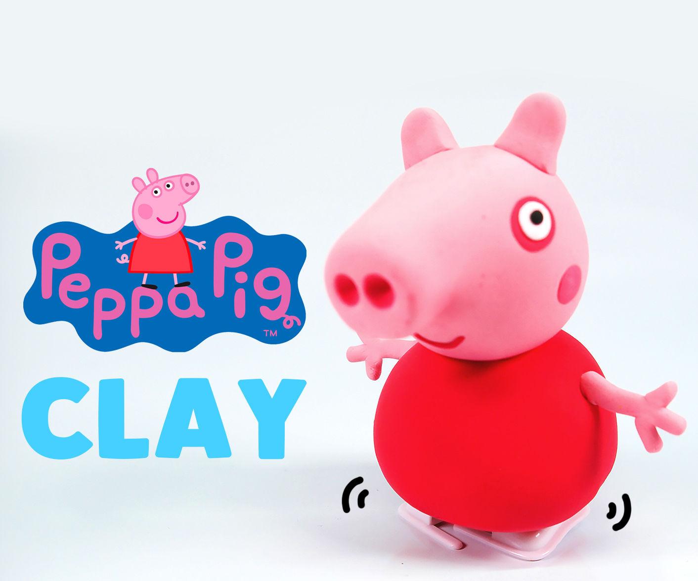Peppa Pig Clay Tutorial !! DIY Clockwork PeppaPig