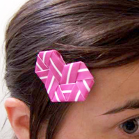 Straw Hairpin Heart