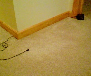 How to Hide Any Wire Along a Carpeted Wall