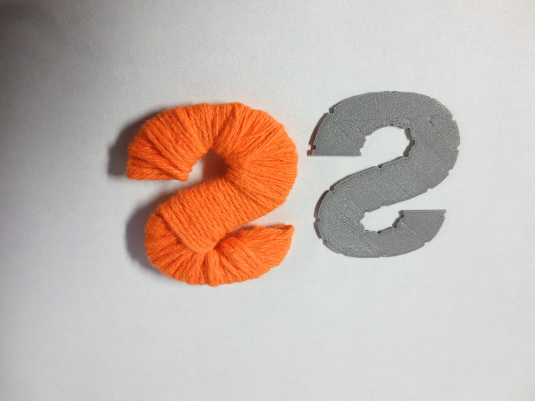 Wrap Yarn Around Template (Medium Hardness)