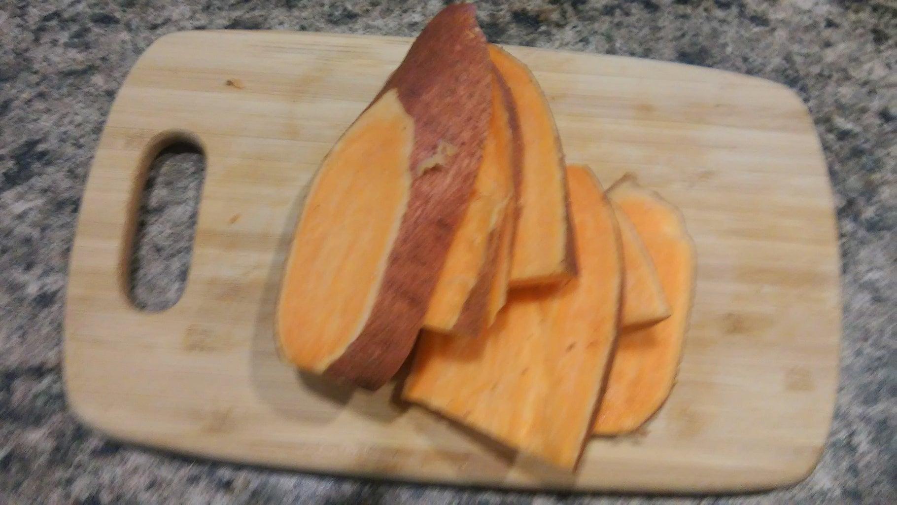 Cut Up the Sweet Potato