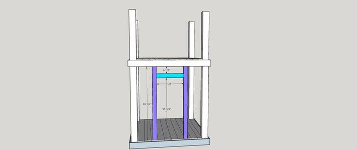 Step 5:  Door Framing