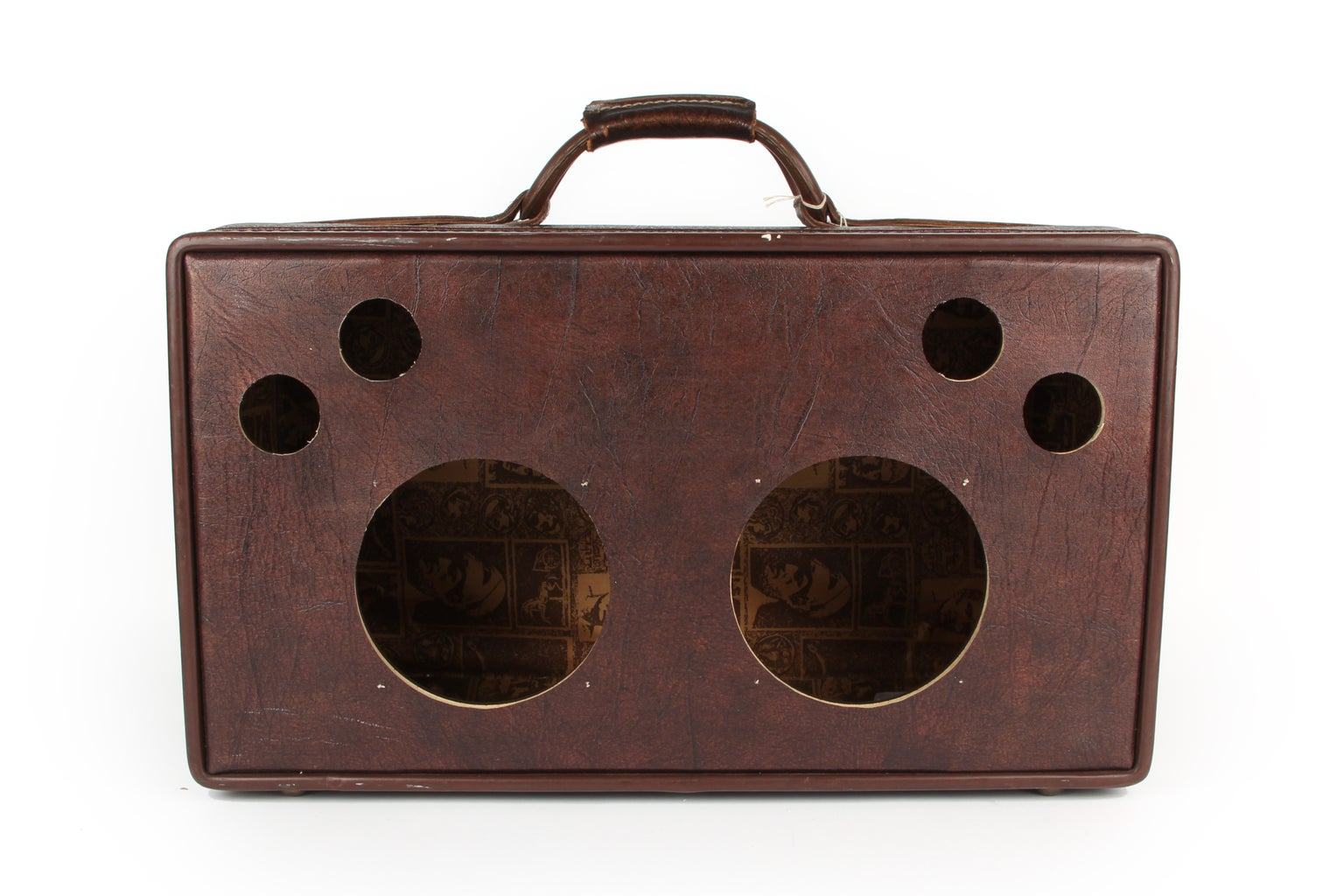 Cut Holes in Suitcase Wall