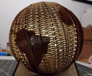 Laser Cut Living Hinge Globe Light