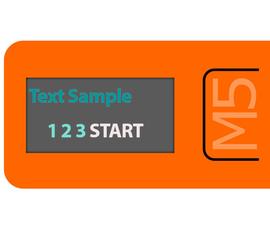 How to Display Text on M5StickC ESP32 Using Visuino