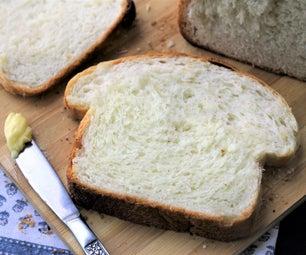 失效的白色三明治面包(几乎没有揉)