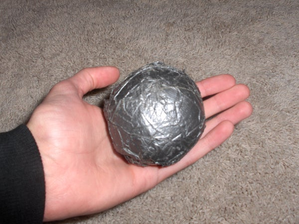 How to Make a Heavy Duct Tape Tennis Ball (Pitcher's Ball)