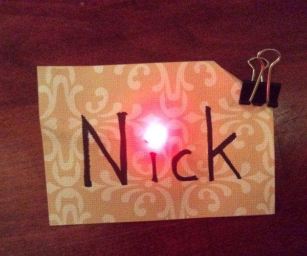Paper Circuits - LED Name Tag
