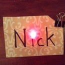 Paper Circuits - LED Name Tag
