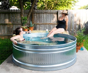 How to Make a Stock Tank Pool! Easy DIY Backyard Pool