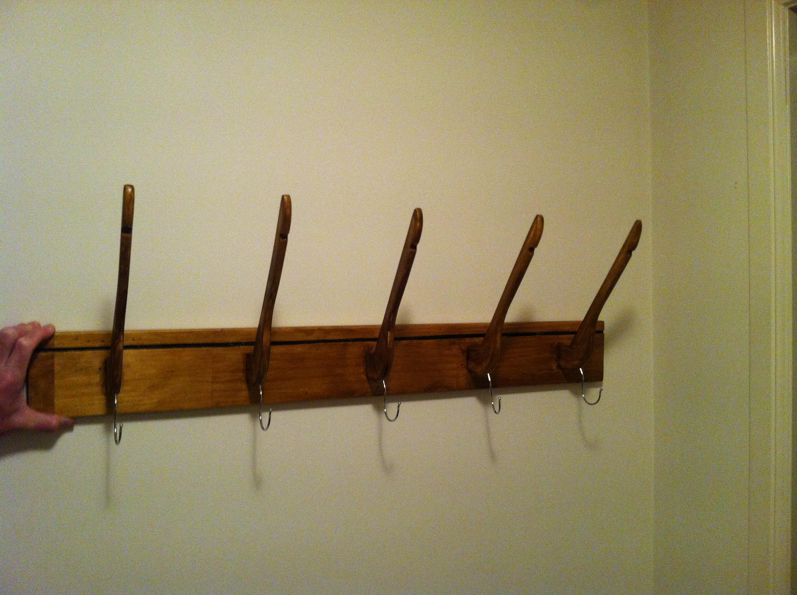 repurposed coat hanger rack