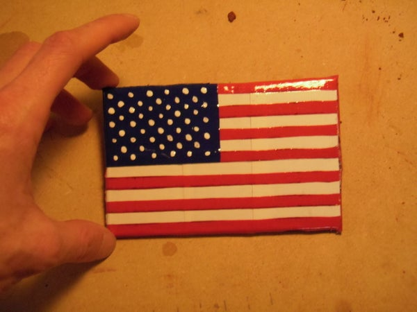 Flag Coasters (Duct Tape and Cardboard)