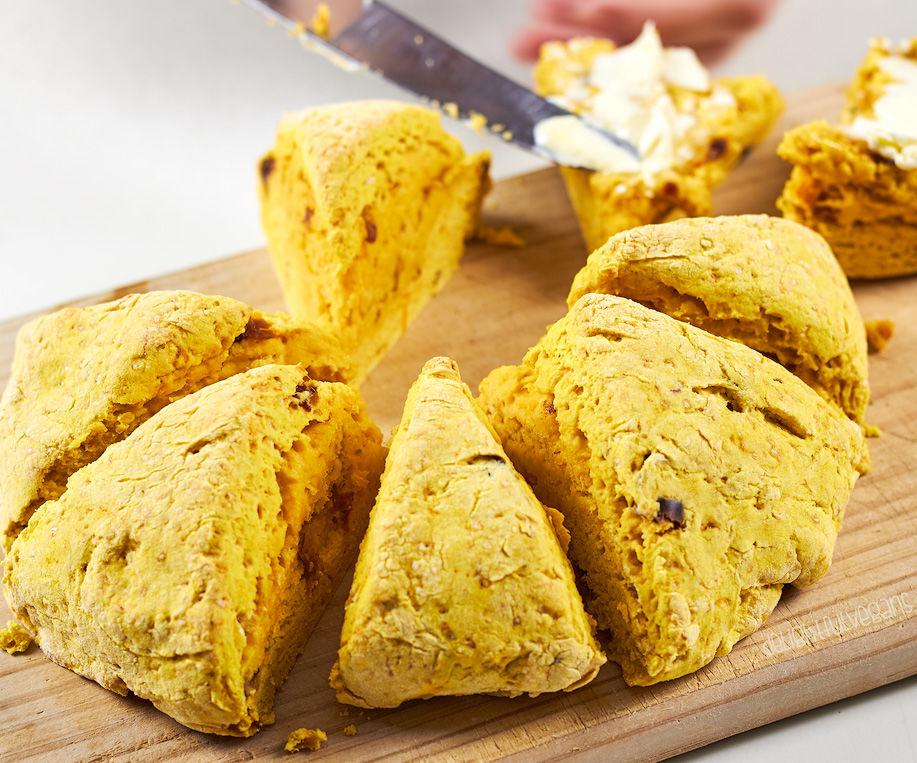 Vegan Pumpkin and Date Scones