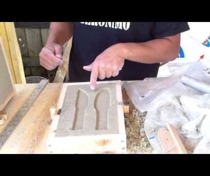 A sand casting demonstration