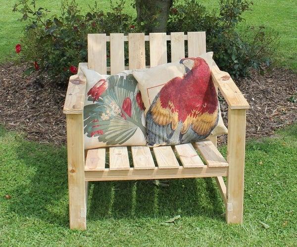 家庭和花园用托盘木扶手椅