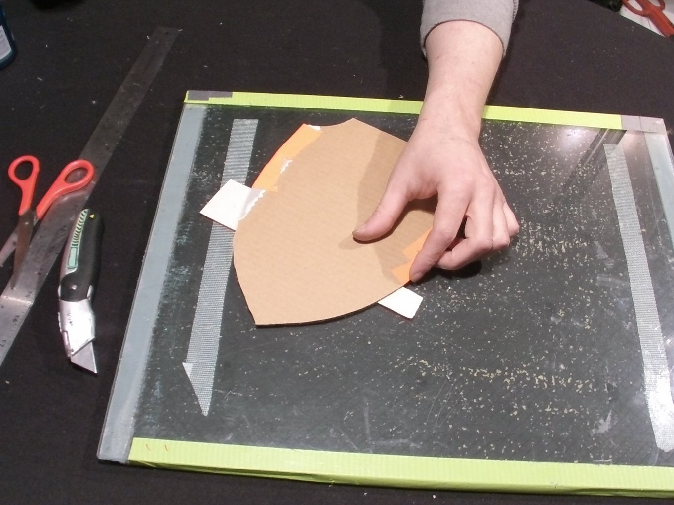 Cover Cut Outs With Duct Tape