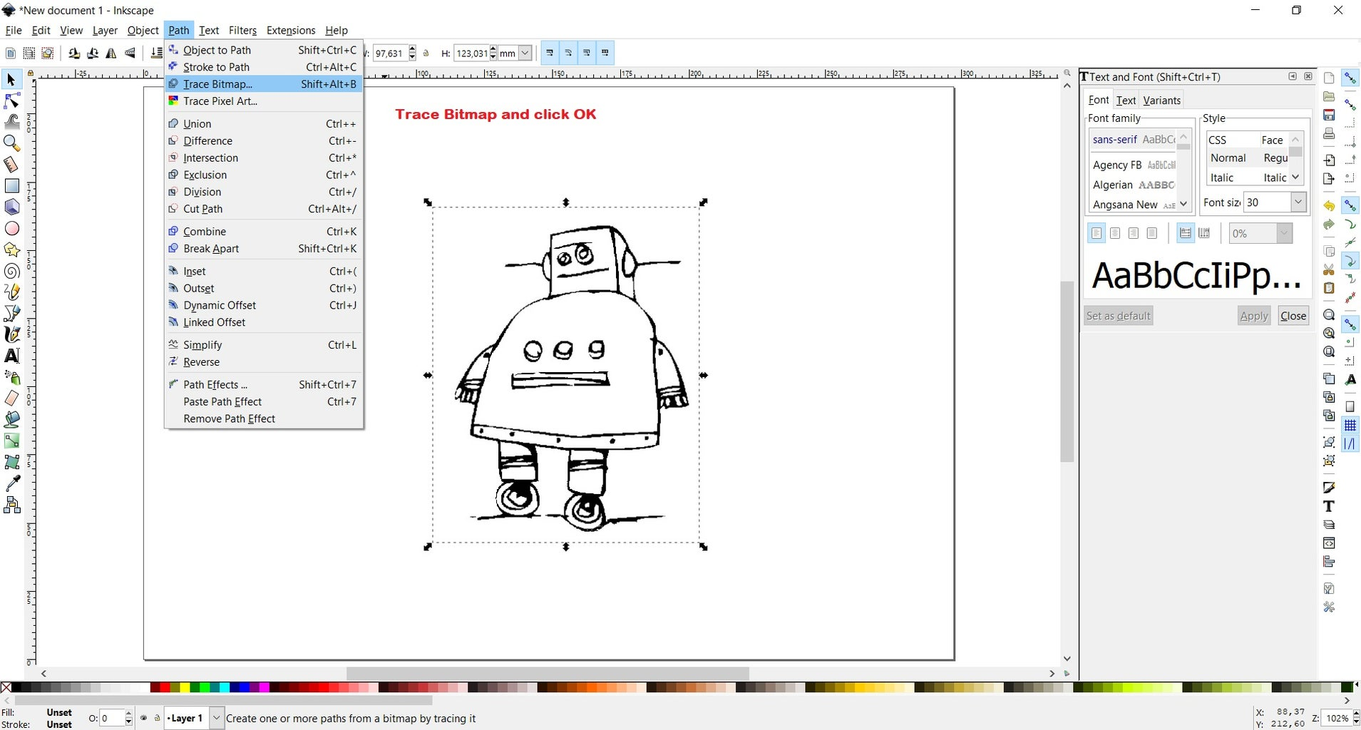Software: Inkscape