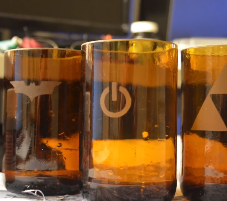 Etching my Beer Bottle Cups