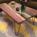 Live edge river coffee table