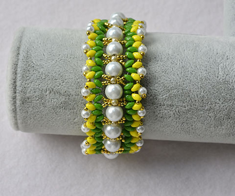 How to Make Colorful Pearl and 2-Hole Seed Beads Bracelets for Women