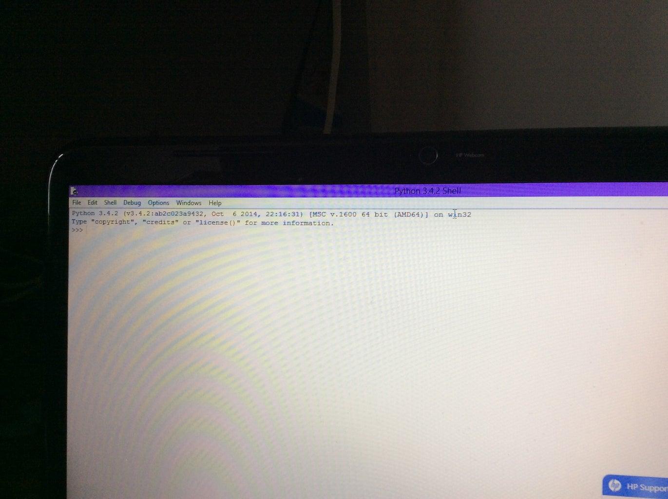 Opening Python 3.4.2
