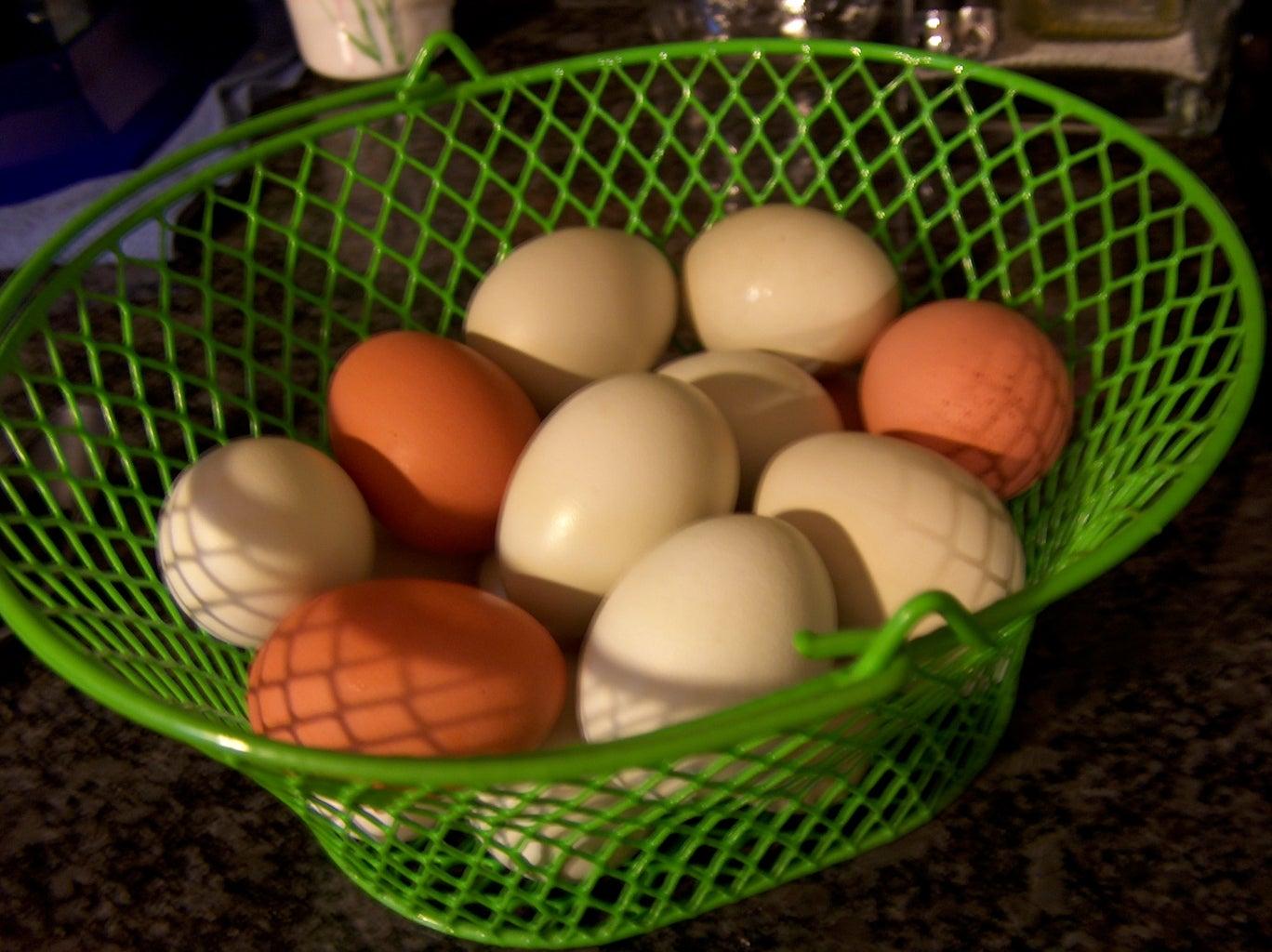Making Hard Boiled Eggs With FRESH Eggs