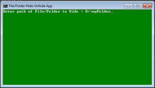 Provide File/Folder Path
