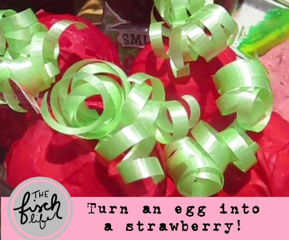 Turn a KinderJoy Egg Into a Strawberry!