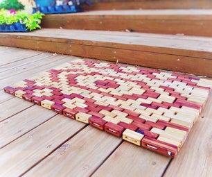 Mosaic Wooden Rope Mat