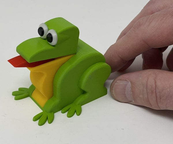 A 3D Printed Simple Mechanical Frog 2.0.