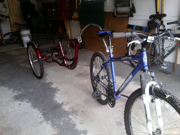 Converted 3-wheeled Adult Trike to Bike Trailer for Cheap!