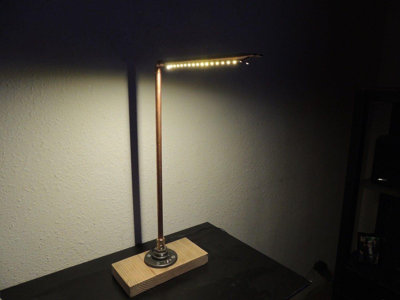 DIY Lamp With LED Strips and Plumbing Parts