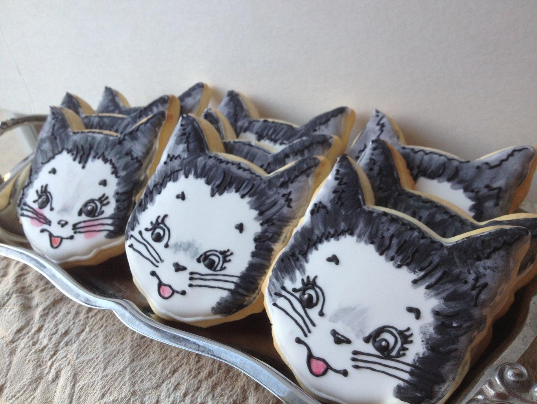 Vintage Kitty Cookies
