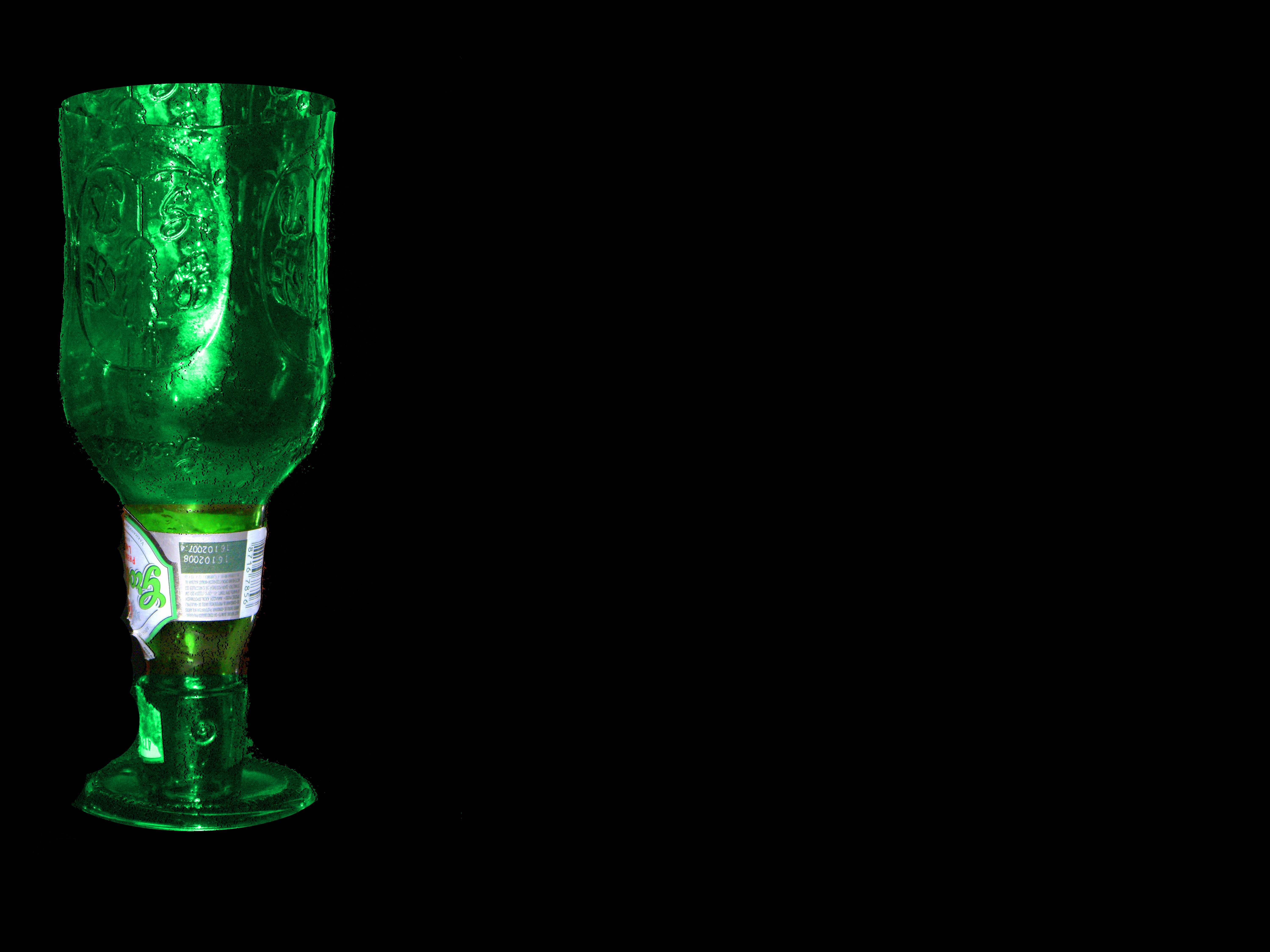 cool beer glass made out of bottle