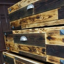 Wooden Chest With Charred Wood Cover
