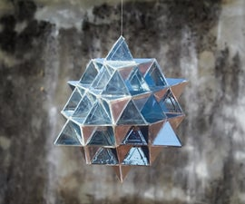 Laser-cut 64 Tetrahedron Made Out of Glass