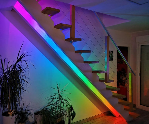 Automatic Rainbow Staircase Lighting