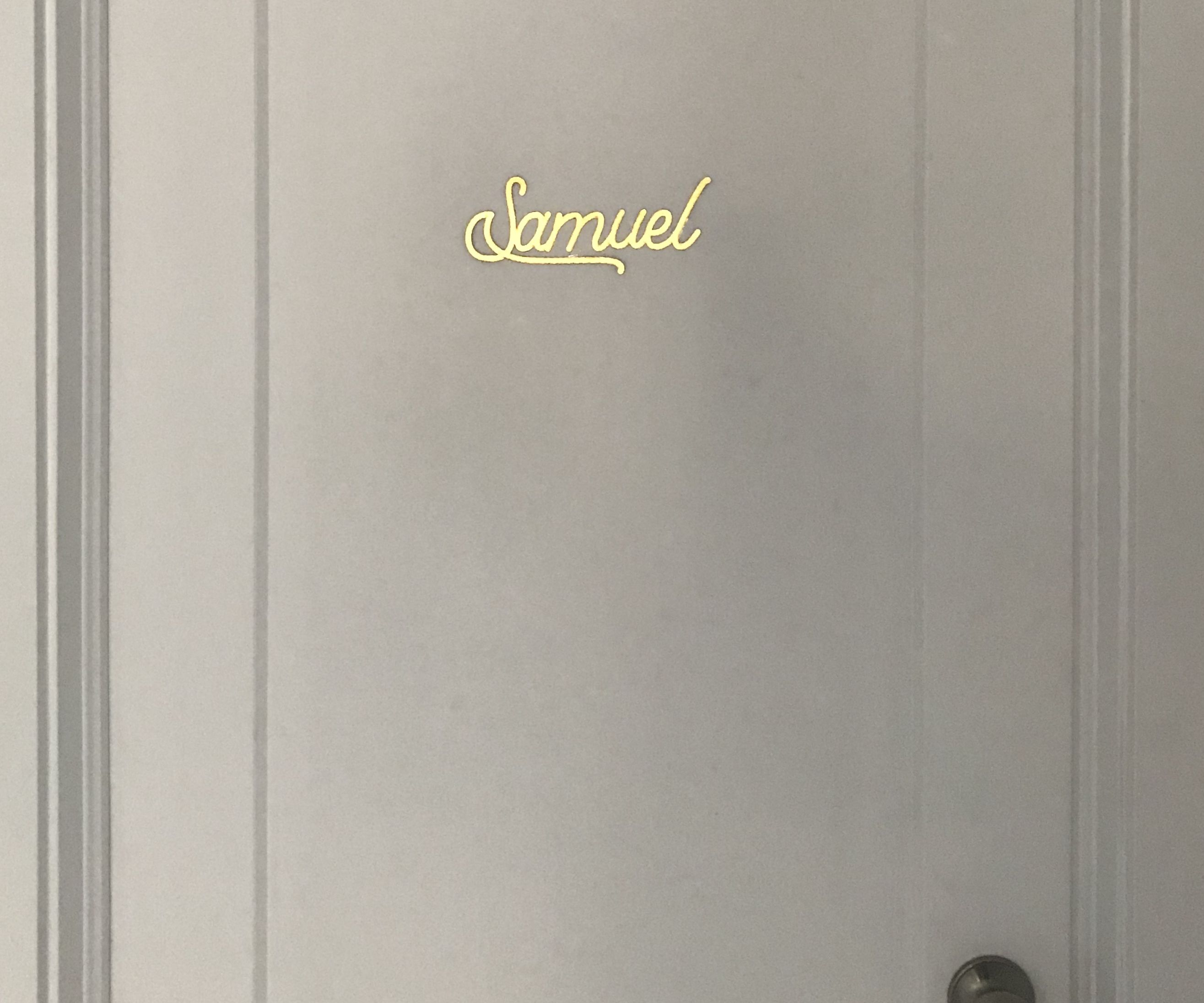 Recycled Paperboard Personalized Door Name