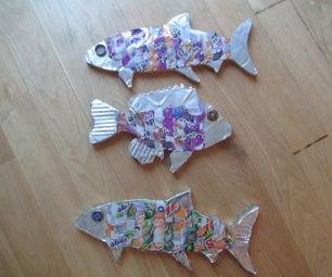 Recycled Fish Wall Art