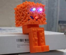 3D印刷的Minecraft南瓜图(在融合360制造)