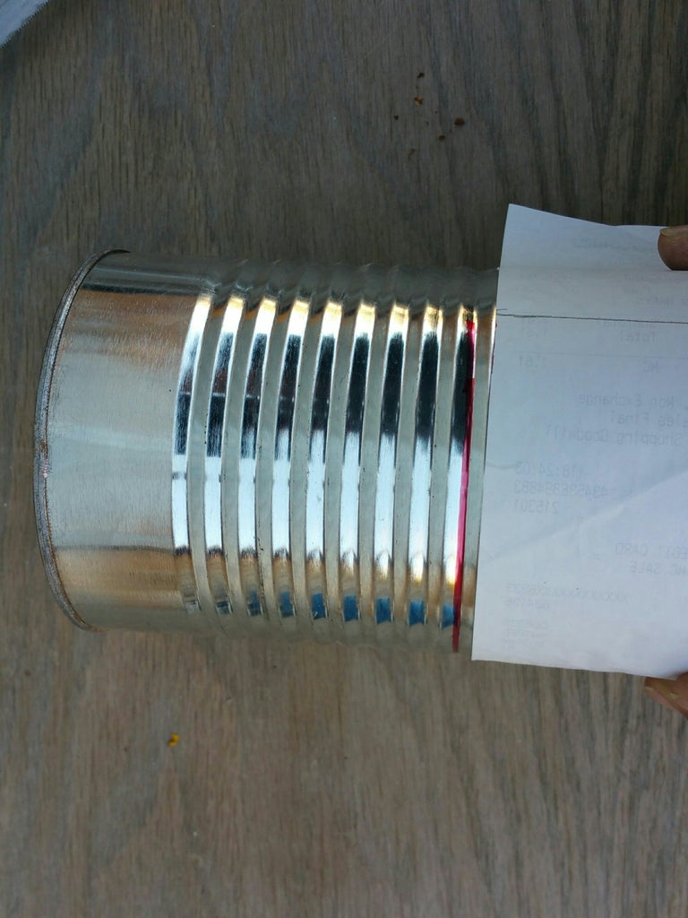 Cut-line Layout on Tall Cans.