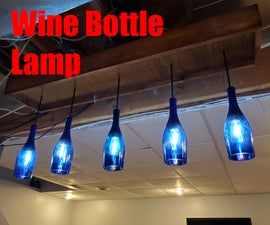 Wine Bottle Lamp (Chandelier)