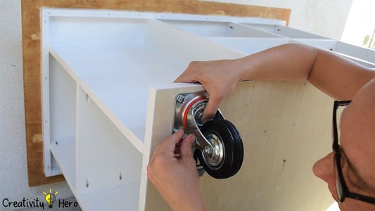 Mounting the Caster Wheels.