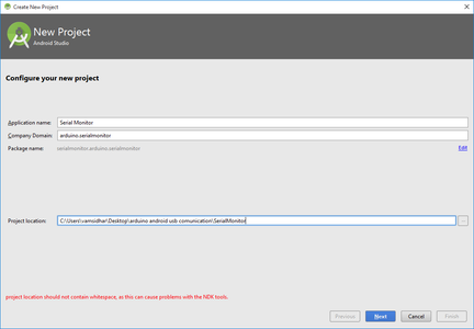 Creating New Project in Android Studio