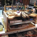 Table Top Jewelers Bench From Folding Wooden Snack Table