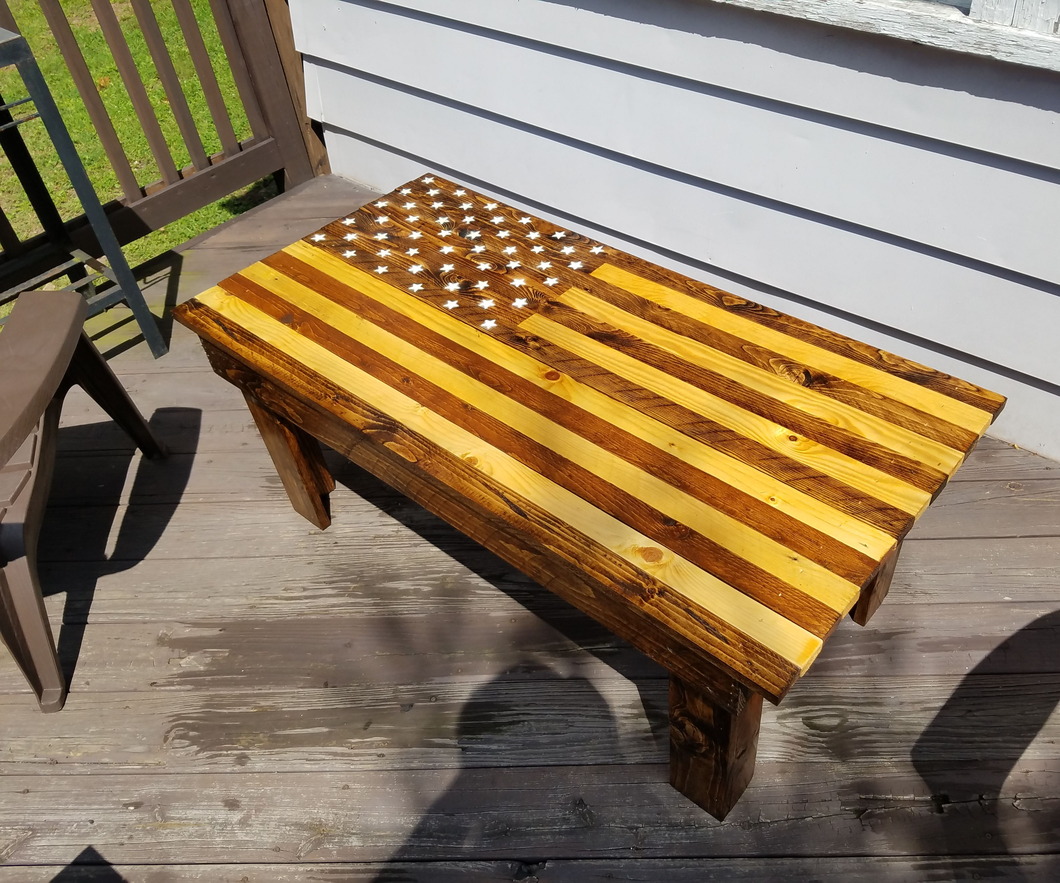American Flag Pallet Coffee Table