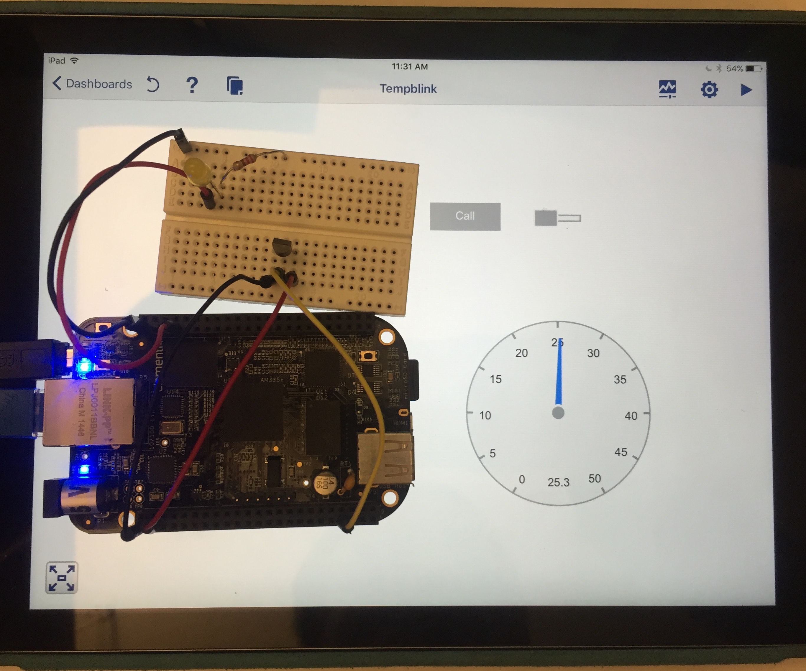 Using a tablet to control a BeagleBone Black with LabVIEW