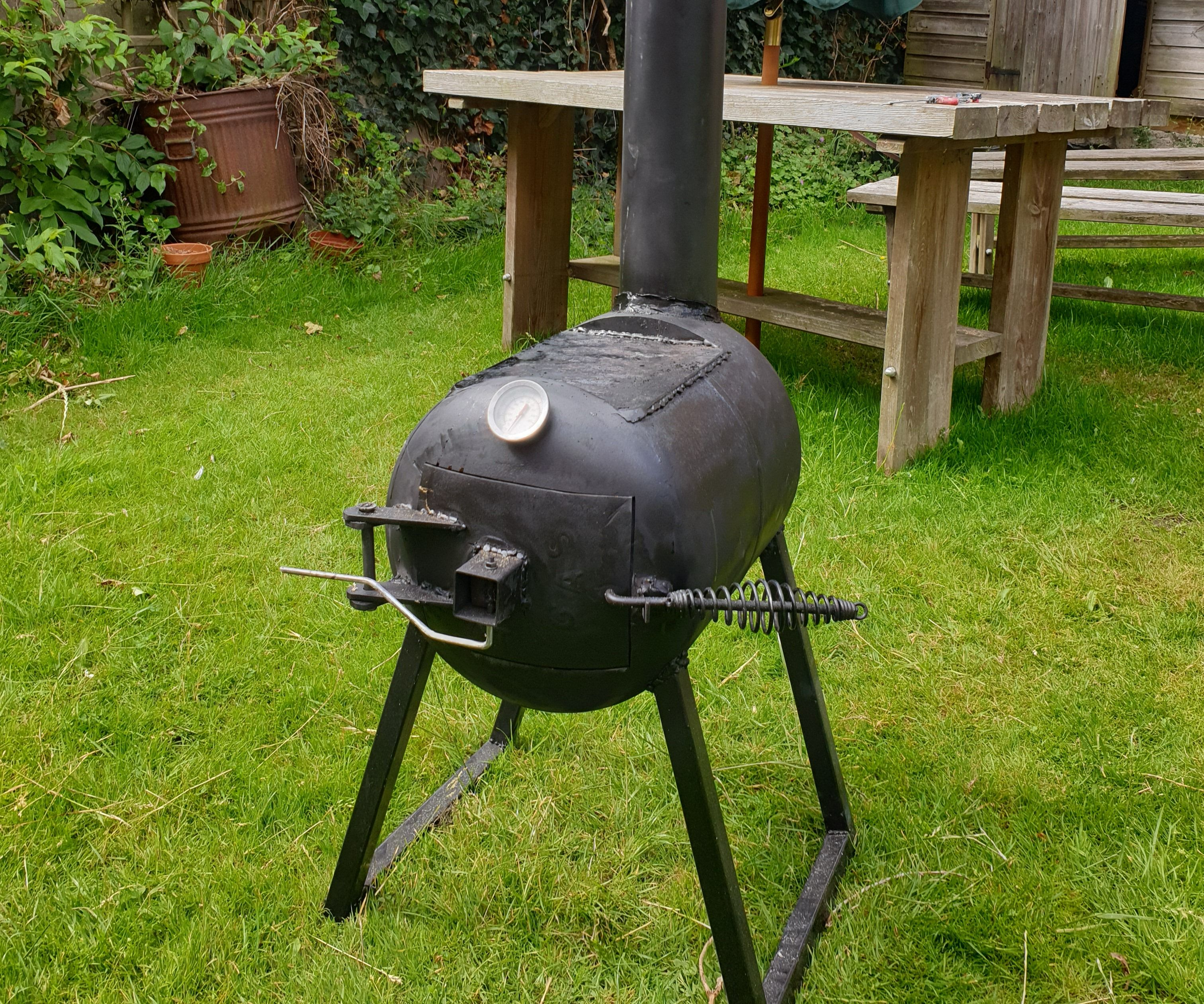 Wood Burning Stove With Hotplate From Gas Bottle